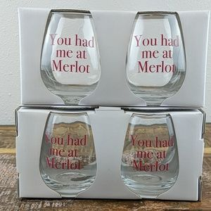 NWT Urban Outfitters Home Stemless Wine Glasses